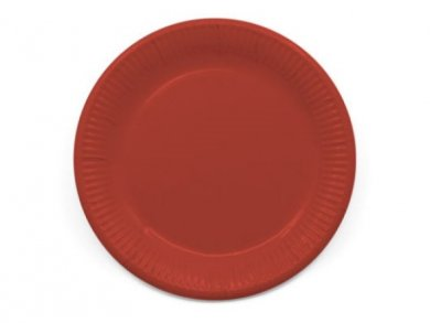 Compostable Red Large Paper Plates 8pcs