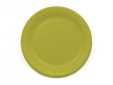 Compostable Μεγάλα Χάρτινα Πιάτα σε Λαχανί Χρώμα (8τμχ)