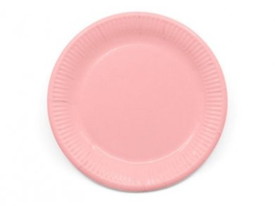 Compostable Large Paper Plates in Pink Color (8pcs)