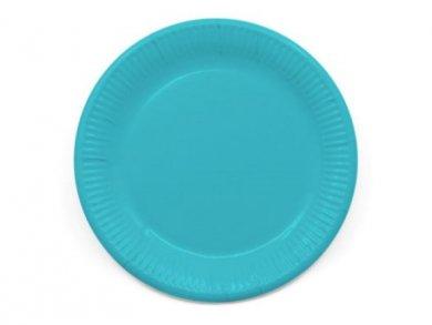 Compostable Μεγάλα Χάρτινα Πιάτα σε Τυρκουάζ Χρώμα 8τμχ