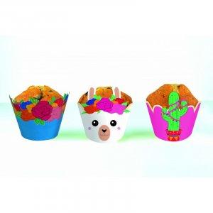 Λάμα και Κάκτος Διακοσμητικά Περιτυλίγματα για Cupcakes (6pcs)