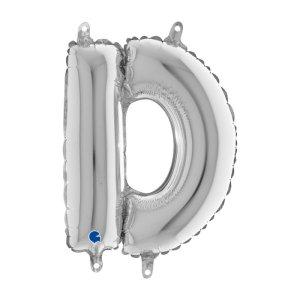 D Letter Balloon Silver (35cm)