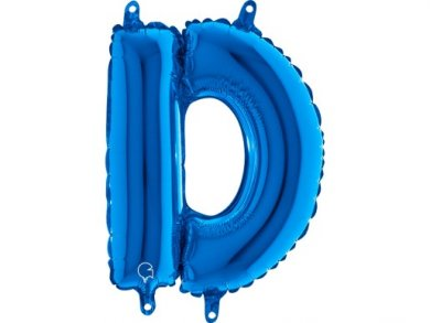 D Letter Balloon Blue (35cm)