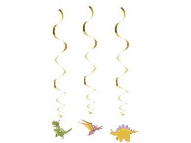 Party Dinosaurs Swirl Decorations (3pcs)