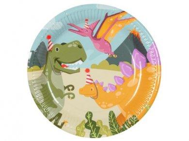 Δεινόσαυροι σε Πάρτυ Μεγάλα Χάρτινα Πιάτα (6τμχ)