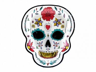 Dia De Los Muertos Shaped Paper Plates (6pcs)