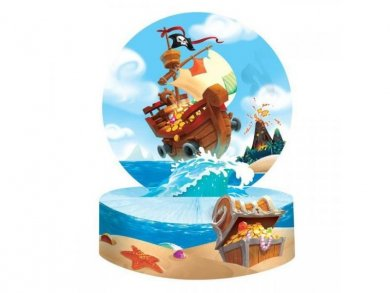 Pirate Treasure Centerpiece Table Decoration 22,8cm X 30,4cm