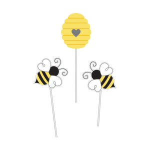Centerpiece Deco Sticks Bumblebee (3pcs)