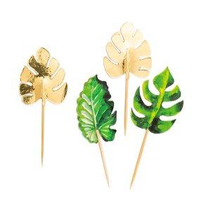 Chic Τροπικά Φύλλα Διακοσμητικές Οδοντογλυφίδες (10τμχ)