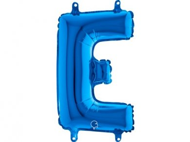 E Letter Balloon Blue (35cm)