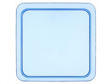 Blue Small Square Plastic Plates (8pcs)