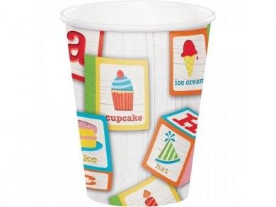 ABC Party Paper Cups (8pcs)