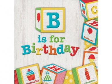 ABC Party Birthday Luncheon Napkins (16pcs)