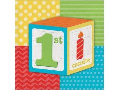 ABC Party Χαρτοπετσέτες για Πρώτα Γενέθλια (16τμχ)