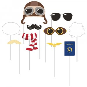 Airplane Photo Booth Props (10pcs)