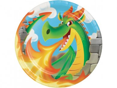 Dragons Large Paper Plates (8pcs)