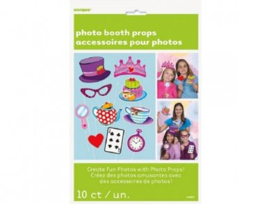 Alice in Wonderland photo booth props (10pcs)