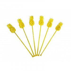 Pineapple Plastic Decorative Picks 24/pcs