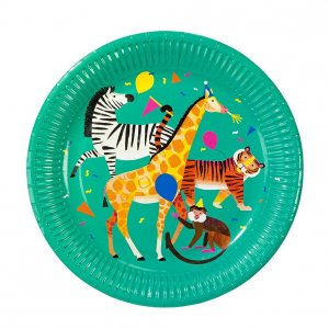 Party Animals Large Paper Plates (8pcs)