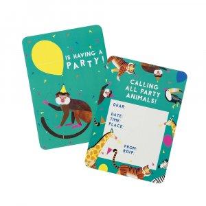 Party Animals Invitations (8pcs)