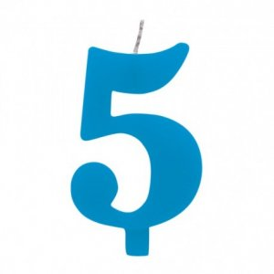 5 Αριθμός Πέντε Γαλαζιο Κερι Για Τουρτα