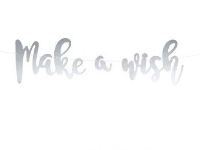 Ασημί Γιρλάντα Make A Wish