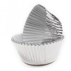 Silver Foiled Cupcake Cases 45/pcs