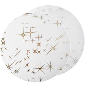 Placemats with Gold & Silver stars 6/pcs