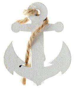 White Anchors Mini Pegs (4pcs)
