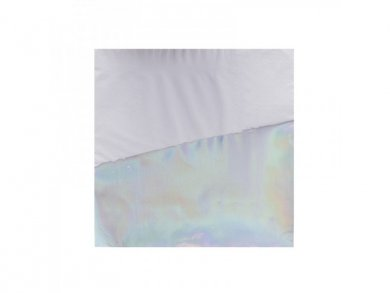 White Luncheon Napkins with Iridescent Design (16pcs)