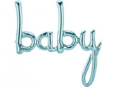 Baby Blue Foil Balloon Banner 86cm