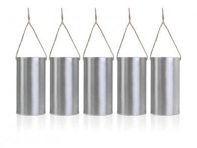 Hanging Decorative Cans (5pcs)