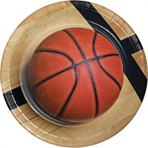 Basketball large paper plates (8pcs)