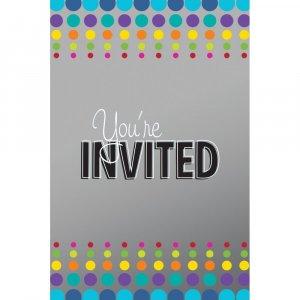 Birthday Pop Party Invitations 8/pcs
