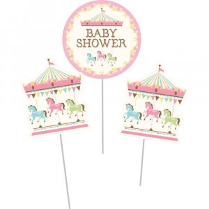 Carousel Baby Shower Centerpiece Sticks 3/pcs