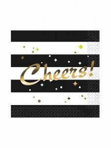 Χαρτοπετσέτες Cheers Με Χρυσοτυπία 16/Τμχ