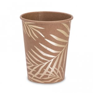 Tropical Chic Gold Foiled Paper cups 8/pcs