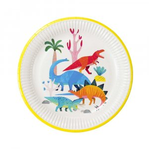 Dinosaurs Party Large Paper Plates 8/pcs