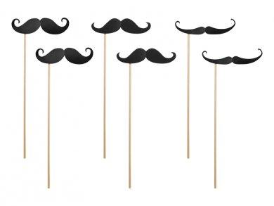 Moustache funny props 6/pcs