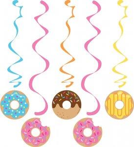 Donuts swirl decoration 5/pcs