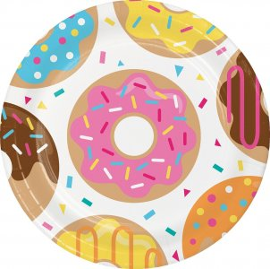 Donuts large paper plates 8/pcs