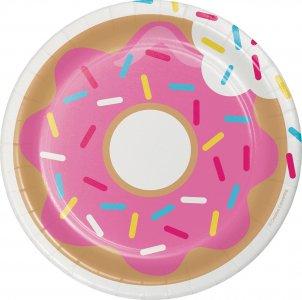 Donuts small paper plates 8/pcs