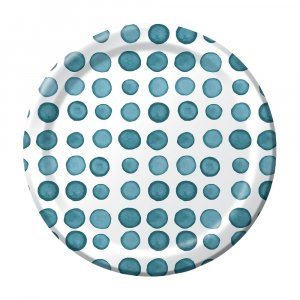 Elise Peacock Dots Small Paper Plates 8/pcs