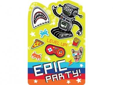 Epic Party Προσκλήσεις 8τμχ