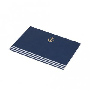 Gold Navy Paper Placemats with Gold Foiled Anchor 10/pcs