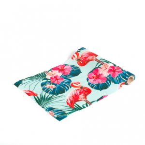 Flamingo Chic Satin Table Runner