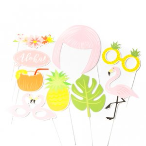 Flamingo Chic Photobooth Props 9/pcs
