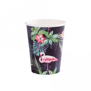 Flamingo Chic Paper Cups 8/pcs