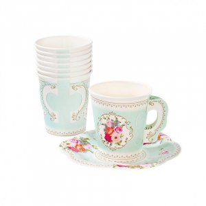 Romance cups and saucers 12/pcs