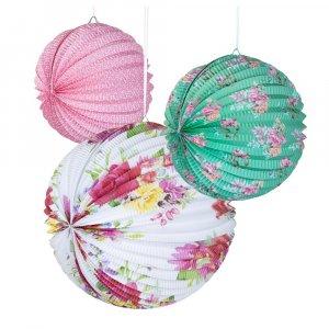 Floral Κρεμαστές Διακοσμητικές Μπάλες 3τμχ